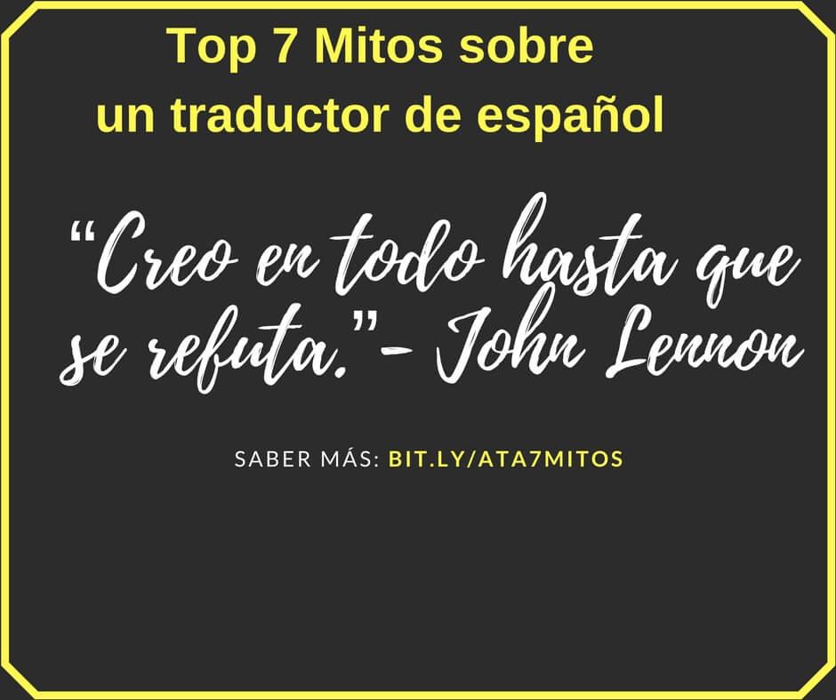 7 Mitos de traductor de español